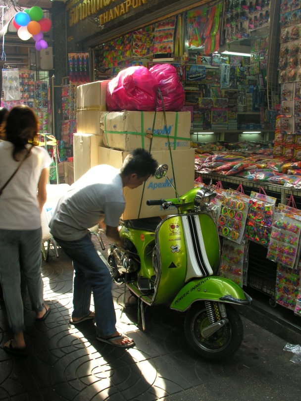 Delivering toys, China Town, Bangkok, Thailand